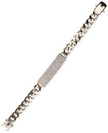 Silver-Tone Pavé Large ID Bracelet