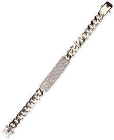 Nina Silver-Tone Pavé Large ID Bracelet