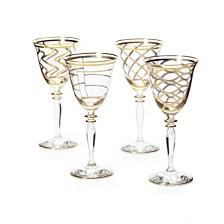 Vietri Elegante Assorted Wine Glasses, Set of 4