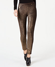 MICHAEL Michael Kors Foil-Print Leggings, In Regular & Petite Sizes