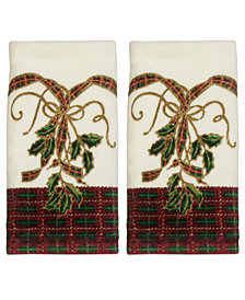 Lenox Bath Towels, Holiday Nouveau Fingertip Towels, Set of Two