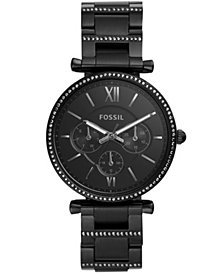 Fossil Women's Carlie Black Stainless Steel Bracelet Watch 38mm