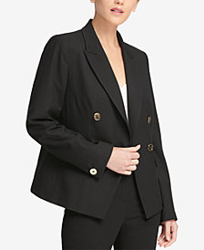 DKNY Double-Breasted Jacket, Created for Macy's