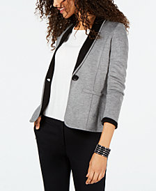 Nine West One-Button Sweater Jacket