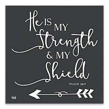 He Is My Strength Printed Canvas