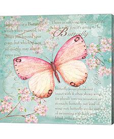 Pink Butterfly by P.S. Art Studios Canvas Art