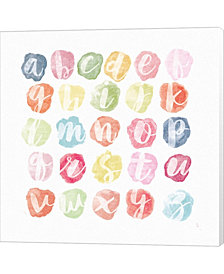 Watercolor Alphabet by Sarah Adams Canvas Art