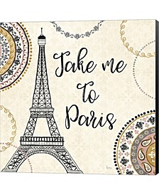 Romance In Paris I By Veronique Charron Canvas Art