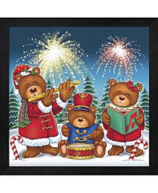 Christmas Fireworks By Ratru Framed Art
