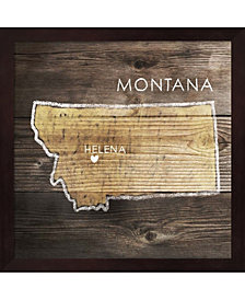 Montana Rustic Map By Pi Galerie Framed Art