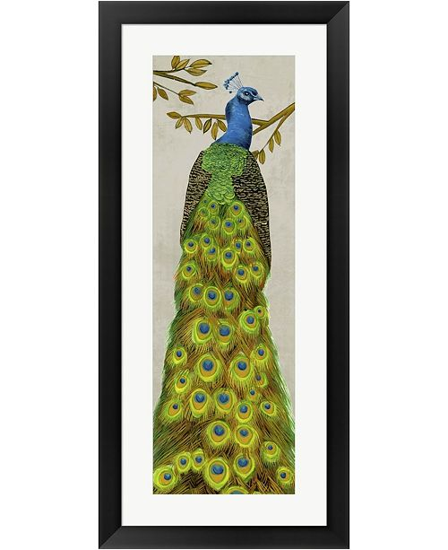 Metaverse Vintage Peacock I By Melissa Wang Framed Art