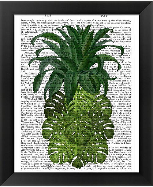 Metaverse Pineapple Monstera L By Fab Funky Framed Art