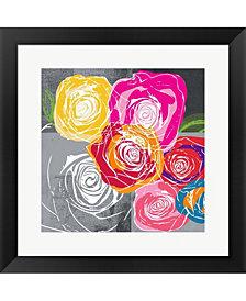 Colorful Roses I by Linda Woods Framed Art
