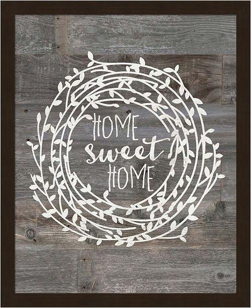 Metaverse Rustic Home Sweet Ho By Jo Moulton Framed Art