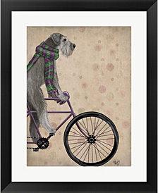 Schnauzer on gr by Fab Funky Framed Art
