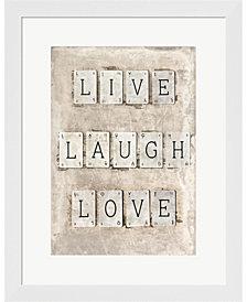 Live Laugh Love By Symposium Design Framed Art