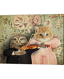 The Owl And The Puss By J Hovenstine Studios Canvas Art