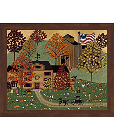 Picking Pumpkins By Medana Gabbard Framed Art