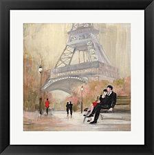 Romantic Paris I Red Jacket By Julia Purinton Framed Art