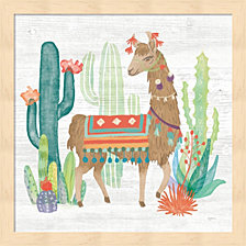 Lovely Llamas Iii By Mary Urban Framed Art