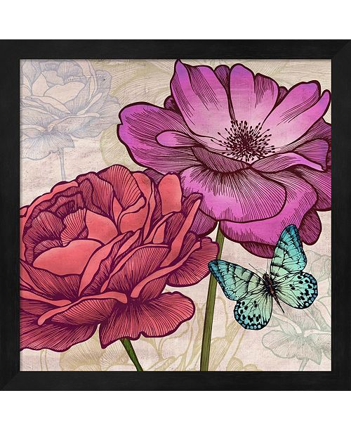 Metaverse Roses And Butterflies By Eve C. Grant Framed Art