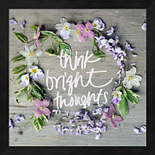 Think Bright Thoughts by Sarah Gardner Framed Art