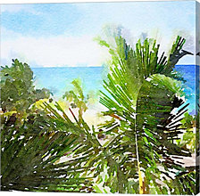 Watercolor Vero Beach by Nola James Canvas Art