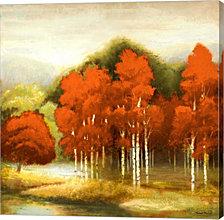 Autumn Birchwood I by Michael Marcon Canvas Art