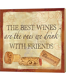 Wine Cork Sentimen2 By Cynthia Coulter Canvas Art