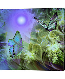 Languid Journeys Blu By Mindy Sommers Canvas Art