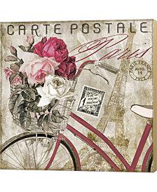 Postale Paris I By Color Bakery Canvas Art