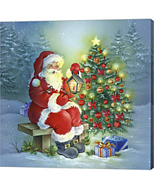 Santas Christmas Tre By Dbk-Art Licensing Canvas Art
