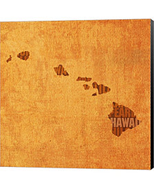 Hawaii State Words By David Bowman Canvas Art