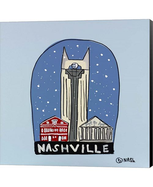 Metaverse Nashville Snow Globe By Brian Nash Canvas Art