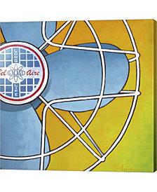 Belaire Fan Orange By Larry Hunter Canvas Art