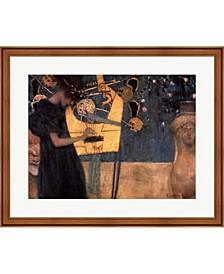 Music C.1895 By Gustav Klimt Framed Art