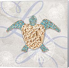 Sea Side Gypsy - Turtle By Lightboxjournal Canvas Art