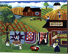 Country Quilts Jam by Cheryl Bartley Canvas Art