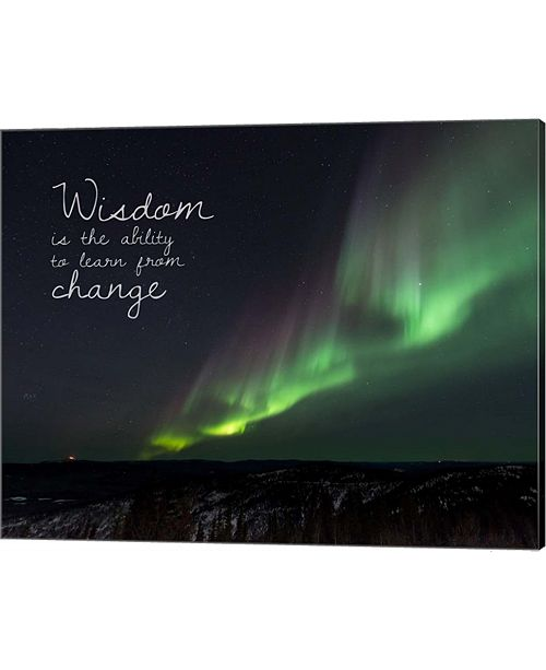 Metaverse Wisdom Is The Ability To Learn From Change - Night Sky Aurora By Color Me Happy Canvas Art
