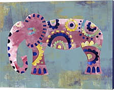 Boho Elephant 4 by Summer Tali Hilty Canvas Art