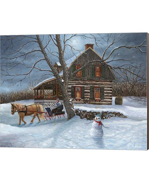 Metaverse Winter Moonlight By Kevin Dodds Canvas Art