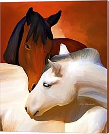 Horse Love By Ata Alishahi Canvas Art