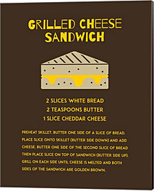 Grilled Cheese Sandwich Recipe Brown By Color Me Happy Canvas Art