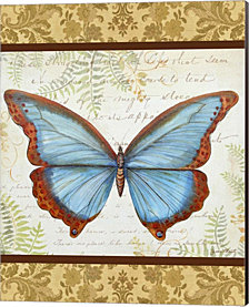 Golden Tapestry Butterfly by Jean Plout Canvas Art