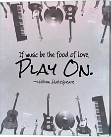 If Music Be The Food Of Love Shakespeare Musical Instruments By Quote Master Canvas Art