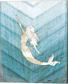 Coastal Mermaid I by Jennifer Pugh Canvas Art