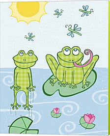 Froggies By Esther Loopstra Canvas Art