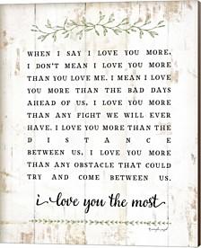 I Love You More By Jennifer Pugh Canvas Art