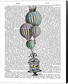 Balloon and Bird Cage 1 by Fab Funky Canvas Art