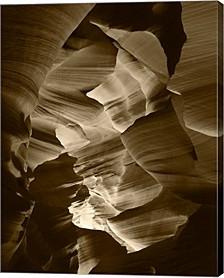 Red Sandstone Walls, Lower Antelope Canyon- Sepia By Adam Jones, Danita Delimont Canvas Art